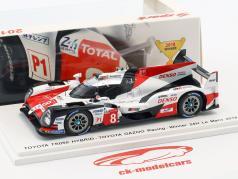 Toyota TS050 Hybrid #8 winnaar 24h LeMans 2018 Buemi, Nakajima, Alonso 1:43 Spark
