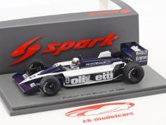 Elio de Angelis Brabham BT55 #8 Monaco GP formule 1 1986 1:43 Spark