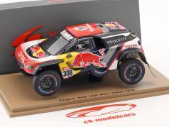 Peugeot 3008 DKR Maxi #308 Rallye Dakar 2018 Despres, Castera 1:43 Spark