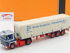 Scania LBT 141 LKW Wolter Koops année de construction 1976 bleu / rouge / beige 1:43 Ixo