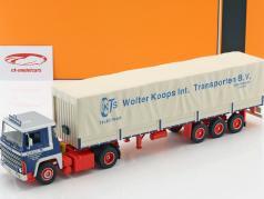 Scania LBT 141 LKW Wolter Koops anno di costruzione 1976 blu / rosso / beige 1:43 Ixo