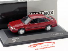 Mazda 626 year 1990 dark red metallic 1:43 WhiteBox