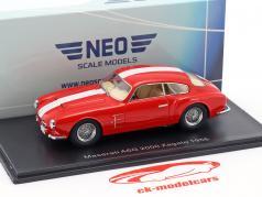 Maserati A6G 2000 Zagato año de construcción 1956 rojo / blanco 1:43 Neo