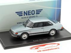 Saab 90 Bouwjaar 1985 lichtblauw metalen 1:43 Neo
