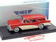 Buick Century Caballero Estate Wagon año de construcción 1957 rojo / beige 1:43 Neo