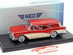 Buick Century Caballero Estate Wagon year 1957 red / beige 1:43 Neo