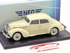 Opel Admiral sedán año de construcción 1938 luz beige 1:43 Neo