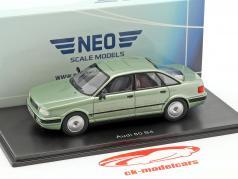 Audi 80 B4 ano de construção 1992 luz verde metálico 1:43 Neo