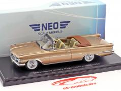 Oldsmobile 98 Convertible year 1959 dark beige metallic 1:43 Neo