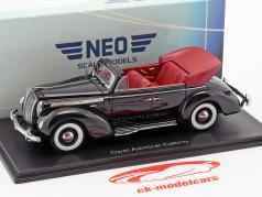 Opel Admiral Convertible year 1938 black 1:38 Neo