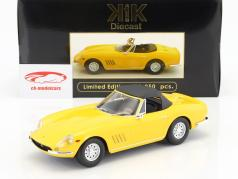 Ferrari 275 GTS/4 NART Spyder with alloy rims year 1967 yellow 1:18 KK-Scale