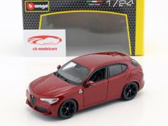 Alfa Romeo Stelvio vermelho 1:24 Bburago