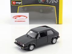 Volkswagen VW Golf Mk1 GTI año de construcción 1979 negro 1:24 Bburago
