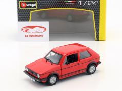 Volkswagen VW Golf Mk1 GTI anno di costruzione 1979 rosso 1:24 Bburago
