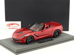 Corvette Stingray Cabriolet Opførselsår 2014 cristal rød med udstillingsvindue 1:18 BBR