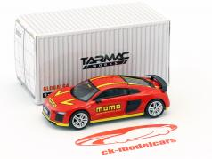 Audi R8 V10 Plus Momo red / yellow 1:64 Tarmac Works