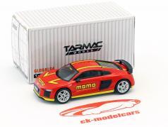 Audi R8 V10 Plus Momo rouge / jaune 1:64 Tarmac Works