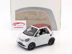 Smart fortwo Cabriolet (A453) white / red 1:18 Norev