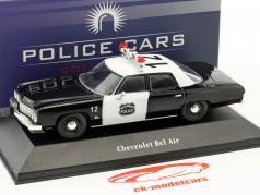 Chevrolet Bel Air Polizei USA Baujahr 1973 schwarz / weiß 1:43 Atlas