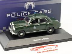 Mercedes-Benz 180 D police Allemagne année de construction 1953 vert 1:43 Atlas