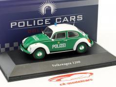 Volkswagen VW escarabajo 1200 policía Alemania año de construcción 1977 verde / blanco 1:43 Atlas