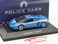 Lamborghini Gallardo politie Italië Bouwjaar 2004 blauw / wit 1:43 Atlas