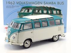 Volkswagen VW T1 Samba Bus año de construcción 1962 turquesa / beige 1:12 Sunstar