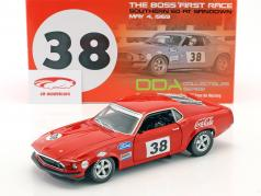 Ford Mustang Boss 302 Trans Am #38 1st victory car Sandown 1969 Allan Moffat 1:18 GMP
