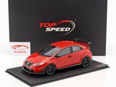 Mugen Honda Civic Type R year 2017 Milano red 1:18 TrueScale