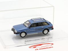 Subaru Leone 1800 Turbo Baujahr 1983 planet blau 1:43 DNA Collectibles