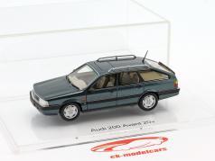 Audi 200 Avant 20V Quattro ano de construção 1991 lago azul metálico 1:43 DNA Collectibles