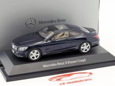 Mercedes-Benz S-Class Coupe Cavansite blue metallic 1:43 Kyosho