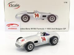 Stirling Moss Mercedes-Benz W196 #14 2nd belgisk GP formel 1 1955 1:18 iScale