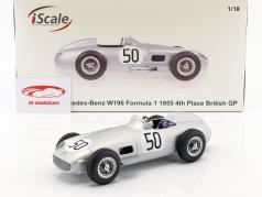 Piero Taruffi Mercedes-Benz W196 #50 4th British GP formula 1 1955 1:18 iScale