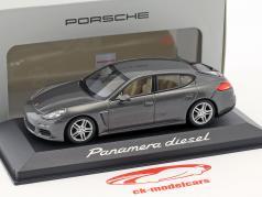 Porsche Panamera Diesel Bouwjaar 2014 agaatgrijs 1:43 Minichamps