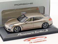 Porsche Panamera Turbo S 2014 executive guld 1:43 Minichamps
