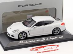 Porsche Panamera S Gen. II e-hybrid Opførselsår 2014 hvid 1:43 Minichamps
