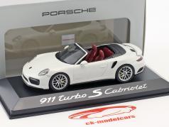 Porsche 911 (991) Turbo S Cabriolet wit 1:43 Herpa