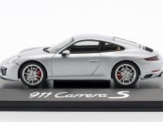Porsche 911 (991 II) Carrera S Coupe Bouwjaar 2016 zilver metalen 1:43 Herpa