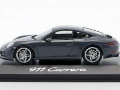 Porsche 911 (991 II) Carrera Coupe Bouwjaar 2016 grafiet blauw 1:43 Herpa