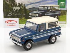 Ford Bronco Explorer année de construction 1976 bleu / blanc 1:18 Greenlight