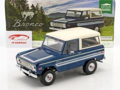Ford Bronco Explorer Baujahr 1976 blau / weiß 1:18 Greenlight