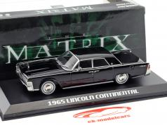Lincoln Continental Baujahr 1965 Film The Matrix (1999) schwarz 1:43 Greenlight