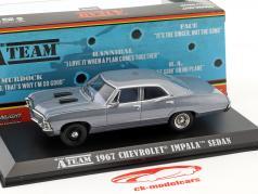 Chevrolet Impala Sport Sedan année de construction 1967 Série TV la A-Team (1983-87) gris bleu 1:43 Greenlight