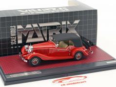 Mercedes-Benz 500K Tourer Mayfair Closed Top Baujahr 1934 rot 1:43 Matrix