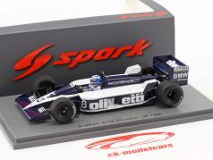 Derek Warwick Brabham BT55 #8 canadisk GP formel 1 1986 1:43 Spark