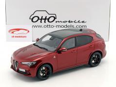 Alfa Romeo Stelvio Quadrifoglio Bouwjaar 2017 rood metalen 1:18 OttOmobile