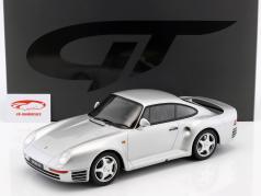 Porsche 959 année de construction 1986 argent 1:12 GT-Spirit