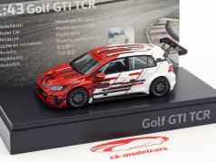 Volkswagen VW Golf 7 GTi TCR 2018 rouge / blanc 1:43 Spark
