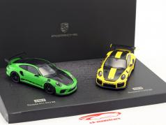 Porsche 2-Car Set 911 GT3 RS & 911 GT2 RS giro record Nürburgring Nordschleife 1:43 Minichamps